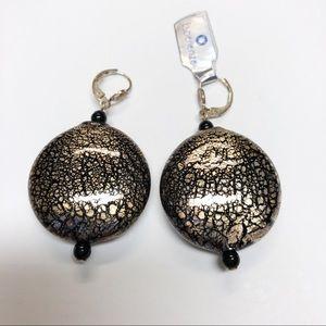 Jewelry - Murano glass & silver earrings.